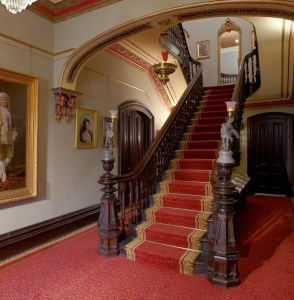 Glanmore foyer with restored carpet