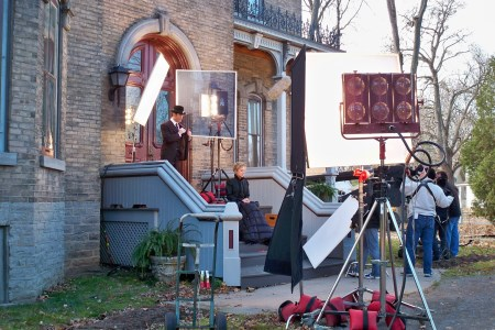 Filming of Murdoch Mysteries at Glanmore